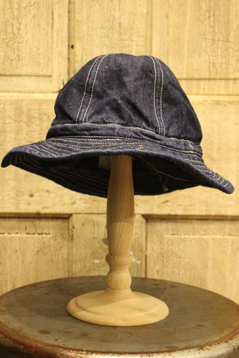 White /& Blue  ☆ Baby Boys Traditional Style Sun Hat